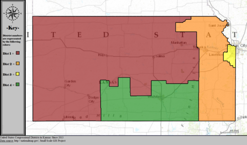 United States Congressional Districts in Kansas, since 2013.tif