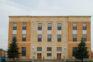 National Register of Historic Places listings in Valley County, Montana - Image: United States Post Office and Courthouse Glasgow Main (2013) Valley County, Montana