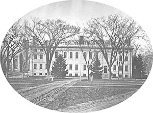 University Hall (Harvard University) - University Hall, west facade in 1869.