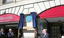 Photo of Library, Leeds, Thomas Johnson, Thomas Ambler, and Joseph Priestley blue plaque