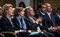 Ursula von der Leyen, Florence Parly, António Guterres und Sheikh Tamim Al-Thani MSC 2018.jpg