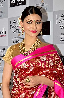 Urvashi Rautela at the red carpet of Lakme Fashion Week 2017 (01) (cropped).jpg