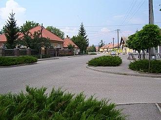 Tard, Hungary - Béke út, the main street in Tard