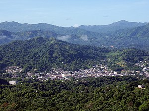 View of Utuado Pueblo from Sabana Grande barrio