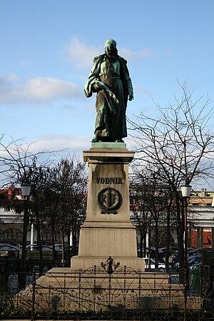 V. Vodnik monument Ljubljana front side 2008-03