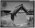 VIEW WEST - Old Faithful Inn, Fire Hose House, West Thumb, Teton County, WY HABS WYO,20-YELNAP,1K-1.tif