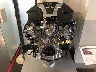 Nissan VR engine - Nissan VR30DDTT Engine at Nissan's Engine Museum in Yokohama, Japan
