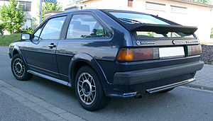 Volkswagen Scirocco - Rear view, late Scirocco GTX (Germany)