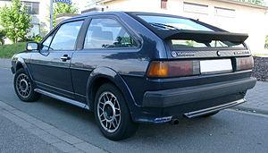 Volkswagen Scirocco - Rear view, late Scirocco GTX (Germany)