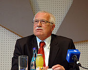 Václav Klaus, current President of the Czech Republic.