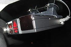 Valentine One Radar Detector In Cars Front Windshield
