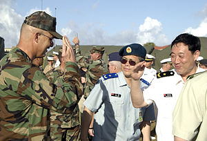 Exercise Valiant Shield - Observers from China at Andersen Air Force Base on Guam