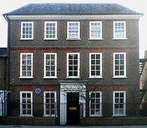 """Casa """"Holme Court"""", em Isleworth, onde Vincent morou em 1876.[7] [8]"""