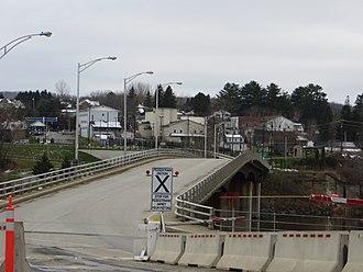 Van Buren, Maine - Van Buren's view from the Canada–US border
