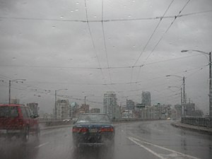Climate of Vancouver - Vancouver on a rainy day