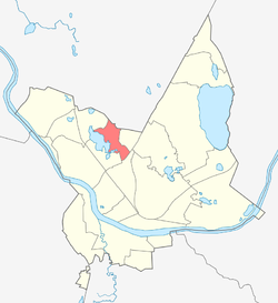 Location of Vecā Forštate