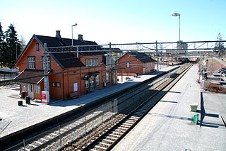 railway station in Vestby, Norway