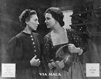 Renate Mannhardt - Mannhardt (right) in Via Mala
