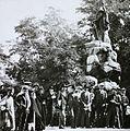 Viale Giuseppe Garibaldi, Garibaldi-szobor (Augusto Benvenuti, 1887.). Fortepan 95055.jpg