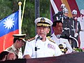 Vice-Admiral Ze-Chun Pu, Commander of the ROCN Fleet Command, delivered a speech on the opening ceremony of 2013 Zhongzheng Naval Base Open Day 20130504.jpg