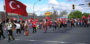 Victoria Day - Turkish Canadians march in the 2007 Victoria Day parade in Victoria, British Columbia
