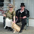 Victorian Costumed Couple with Dog.JPG