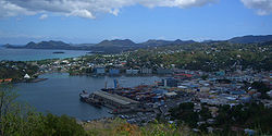 View o the port o Castries
