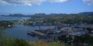 Castries City in Castries Quarter, Saint Lucia