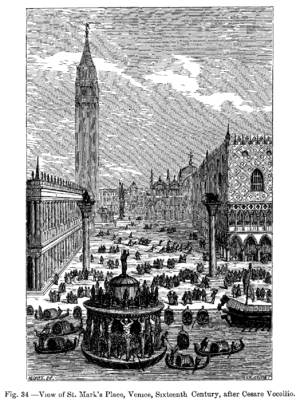 Cesare Vecellio - View of the Piazzetta in the 16th century, after Cesare Vecellio