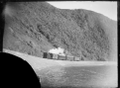 View of a train, with L class locomotive, between Rocky point and Petone. ATLIB 273004.png