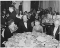 View of table at the dinner honoring President Truman and Vice President Alben Barkley at the Mayflower Hotel in... - NARA - 200014.tif
