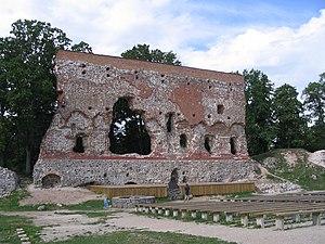 Viljandi Castle - A wall of the former convent house of Viljandi Castle