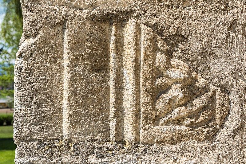 File:Villach Gratschach Filialkirche hll Philippus und Jakobus Ost-Wand Spolie 14042017 7550.jpg