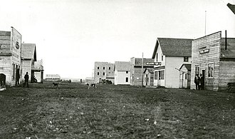 Grande Prairie - A view of downtown Grande Prairie, circa 1914