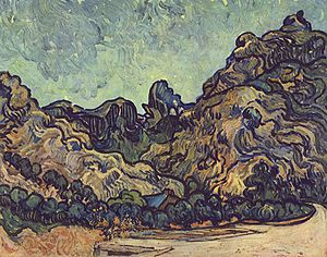 Alpilles - Les Alpilles (1889), painted by van Gogh while in Saint-Rémy
