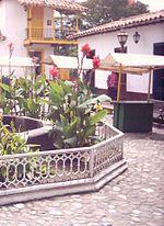 Vista parcial del Pueblito Paisa en el cerro Nutibara, en Medellín