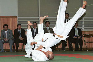 Kodokan - Vladimir Putin on a tatami at the Kodokan, Sept 5, 2000.