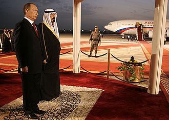 Abdullah of Saudi Arabia - King Abdullah with Russian President Vladimir Putin on 11 February 2007.