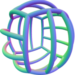 Point groups in three dimensions - The seams of a volleyball have Th symmetry.