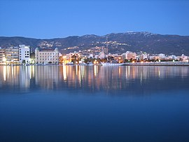 Volos seaside by night