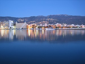Volos promenade by night