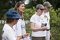 Volunteers with Monarch Teacher Network release butterflies in Arlington National Cemetery (28587947240).jpg