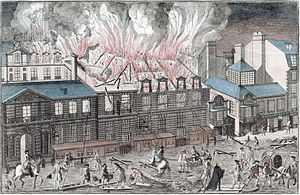 Théâtre du Palais-Royal (rue Saint-Honoré) - Fire of 1763