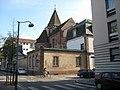 Vue sur l'abside l'église Saint-Étienne et le collège du même nom, Strasbourg.jpg