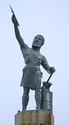 Vulcan statue Birmingham AL 2008 snow retouched.jpg