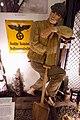 WW2 Nazi Germany railway slave labour Deutsche Reichsbahn Kraftwagengüterstelle Polar Eisenbahn Ost Bahn Soviet Ukrainian POW foot chain prisoners quilted uniform Budenovka shovel etc Lofoten Krigsminnemuseum Norway 2019 DSC00108.jpg
