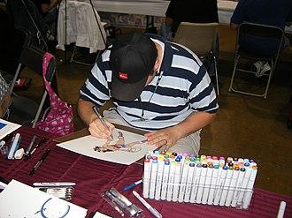 Ryan Ottley - Ottley sketching at the Wizard World Chicago in Chicago, 4 August 2006.