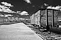 """Wagon w obozie koncentracyjnym """"Auschwitz-Birkenau"""".jpg"""