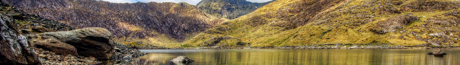 Llyn Llydaw in Snowdonia National Park