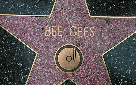 Bee Gees' star on the Hollywood Walk of Fame Walk-BG-1.jpg